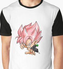 Black Goku Rose Chibi Graphic T-Shirt