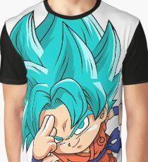 Goku Blue God Chibi Graphic T-Shirt
