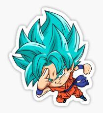 Goku Blue God Chibi Sticker