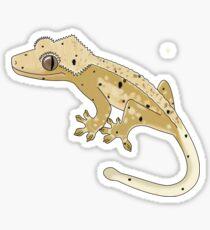 Crested Gecko Yellow Dalmatian Sticker