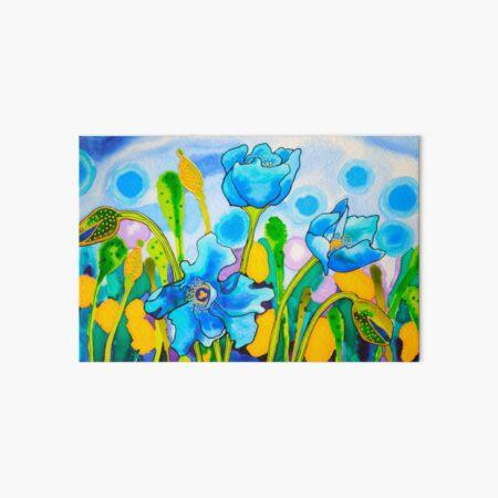 Blue Poppies 1 Belize Art Board Print