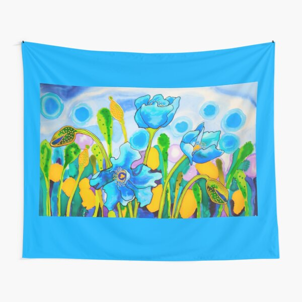 Blue Poppies 1 Belize Tapestry