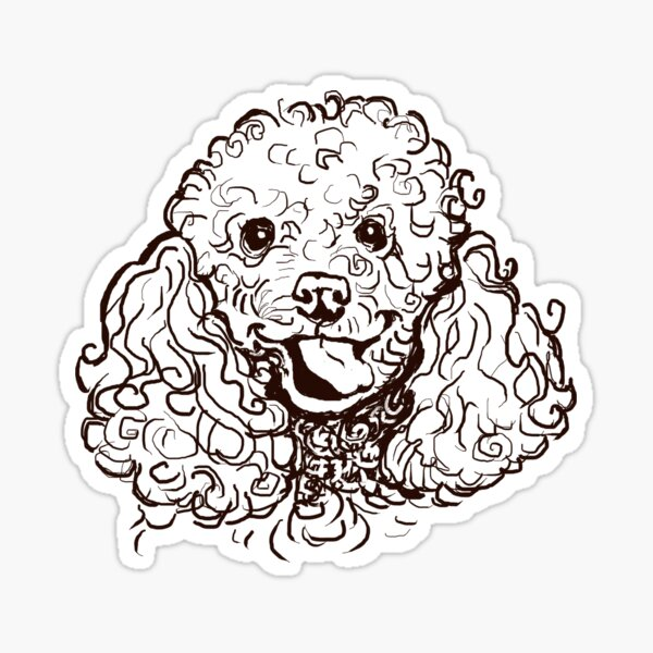 The Poodle Love of My Life Sticker