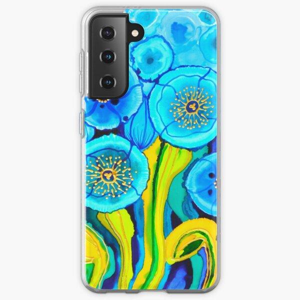 Blue Poppies 7 Belize Samsung Galaxy Soft Case