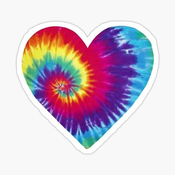 Tie Dye Heart - Rainbow Sticker