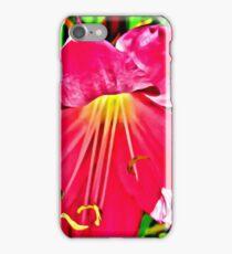 RED HIBISCUS MACRO HDR iPhone Case/Skin