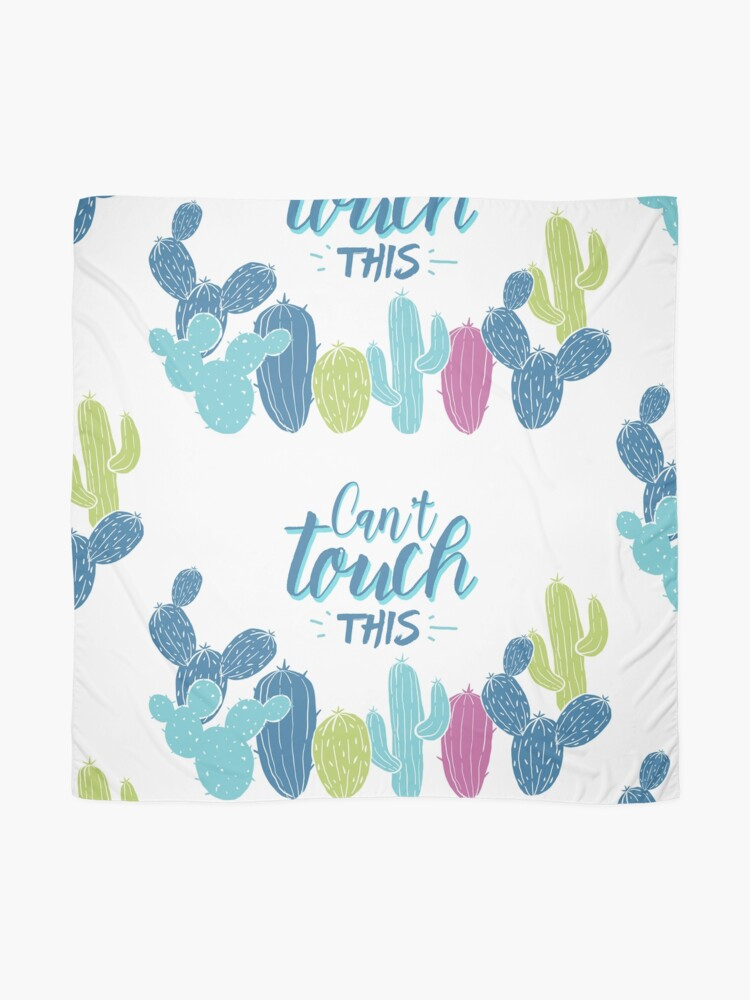 Alternate view of Can't touch this - Cactuses  Scarf