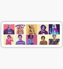 GoT GTA Throwback Collage My Top Ten Sticker
