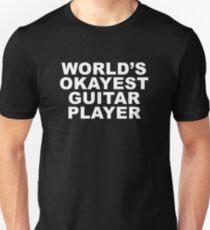 World's Okayest Guitar Player (white) T-Shirt