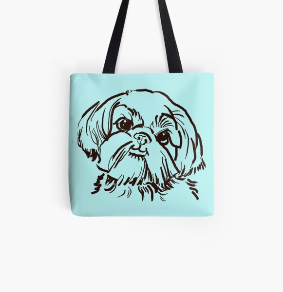 the Shih Tzu love of my life! All Over Print Tote Bag