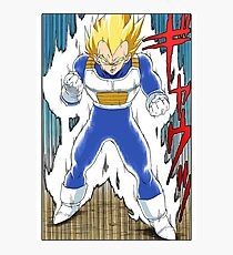 Dragon Ball Z - Vegeta Super Saiyan Manga Photographic Print