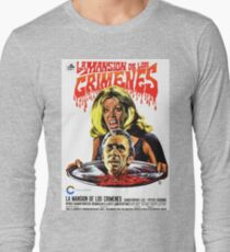 The House That Dripped Blood, vintage horror movie poster, spanish Long Sleeve T-Shirt