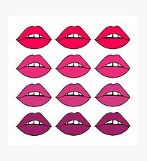 Lovely Lips - Pink Ombre Photographic Print
