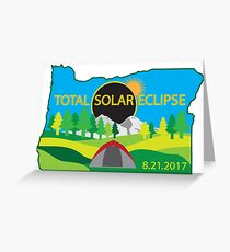 2017 Total Solar Eclipse Camping Trip Map Greeting Card