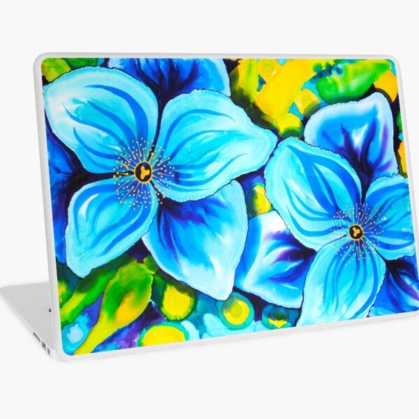 Blue Poppies 4 Belize Laptop Skin