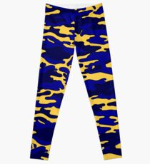 Blue & Yellow Camouflage Leggings