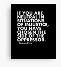 Human Rights Quote Protest Political  Canvas Print