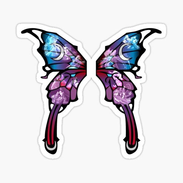 Bayonetta Butterfly Wings Sticker
