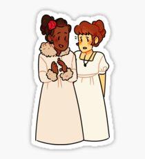 natasha and sonya Sticker