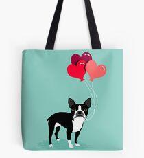 Valentinsgruß-Liebe-Ballongeschenke Bostons Terrier für die Hundeliebhaber-Haustierinhaber-Hunderassen kundengerecht Tote Bag