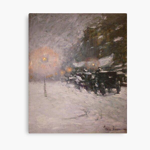 Winter, Midnight - Childe Hassam Canvas Print