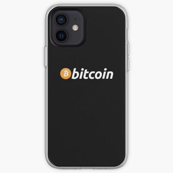 Logotipo de Bitcoin Funda blanda para iPhone