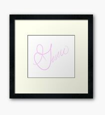 Gem's Autograph  Framed Print