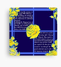 The Phantom of the Opera - A Text Based Pattern Canvas Print
