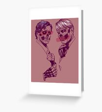 Skeleton Murder Husbands ( Dusty Rose ) Greeting Card