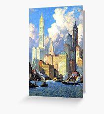 Tarjeta de felicitación Hudson River Waterfront - Colin Campbell Cooper
