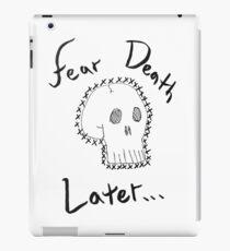 procrastinate on death iPad Case/Skin