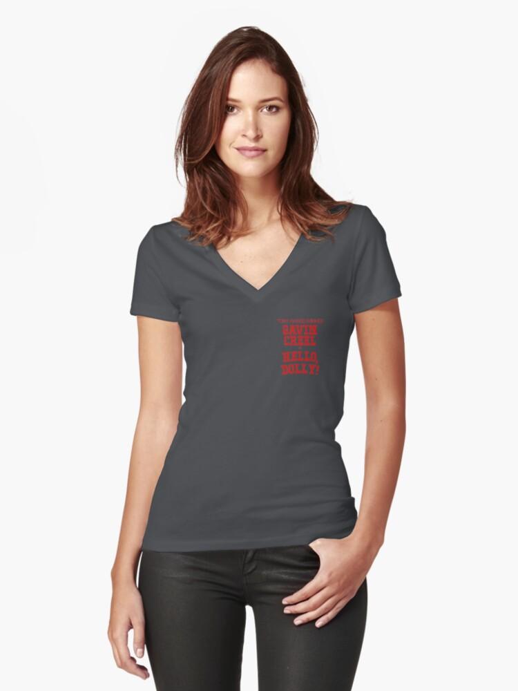 Tony Award Winner Gavin Creel In Hello Dolly Womens Fitted V Neck T Shirt By Idkemma