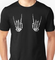 ROCK ON SKELETON HÄNDE Slim Fit T-Shirt