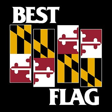 Best Flag, White on Black by talltimore