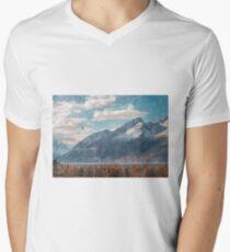 Mountain Landscape Mens V-Neck T-Shirt