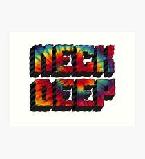 Neck Deep Tie Dye Art Print