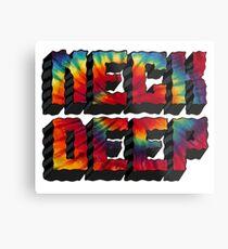 Neck Deep Tie Dye Metal Print