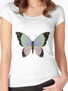 Cartoon Butterfly 2 Women's Fitted Scoop T-Shirt