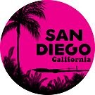 SURFING SAN DIEGO CALIFORNIA RETRO PALMS SURFER BEACH by MyHandmadeSigns