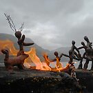 Clay People arrive at Loch Maree by Vicky Stonebridge