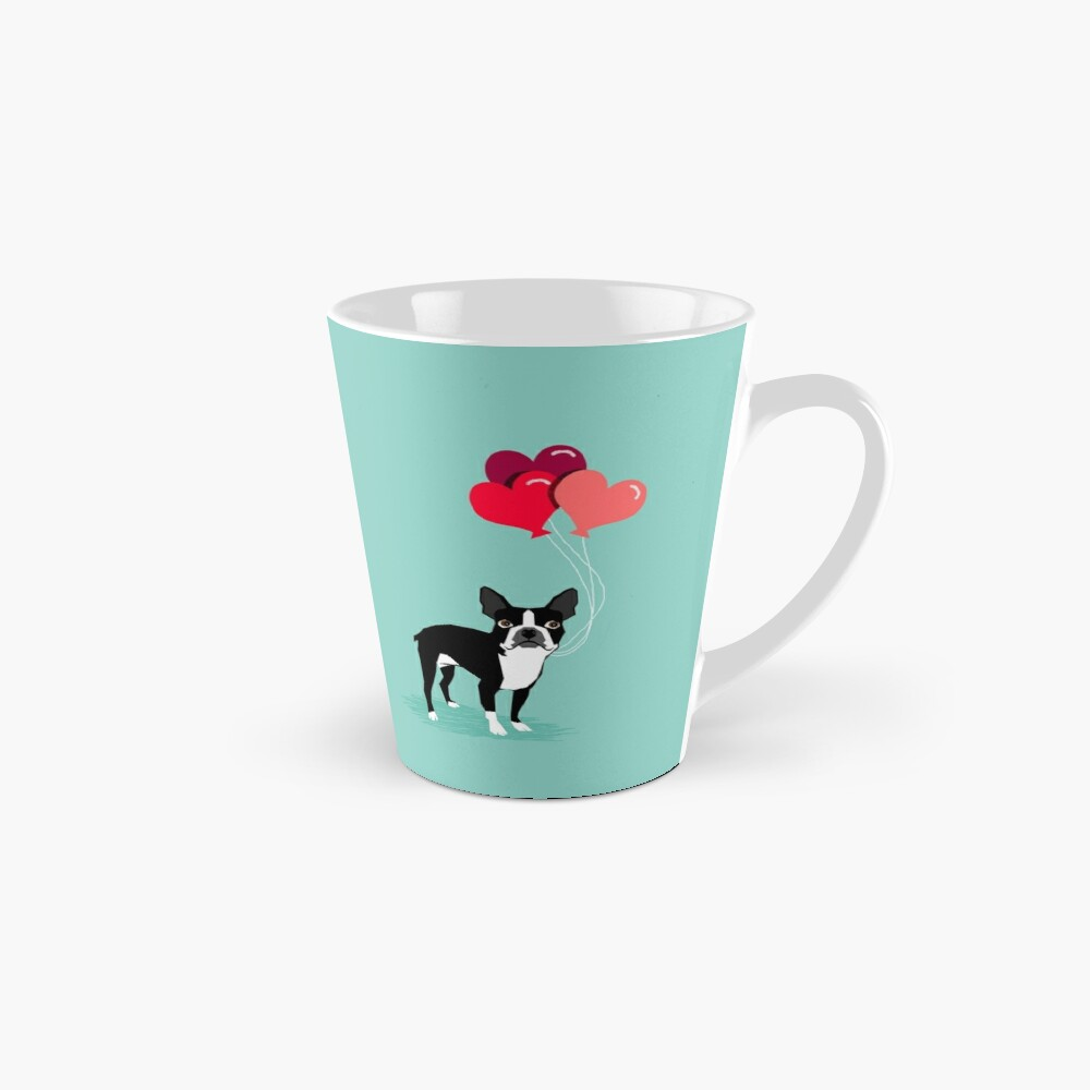 Valentinsgruß-Liebe-Ballongeschenke Bostons Terrier für die Hundeliebhaber-Haustierinhaber-Hunderassen kundengerecht Tassen