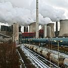 Neurath coal fired power station, Germany. by David A. L. Davies