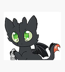 Chibi Toothless -How To Train Your Dragon- Photographic Print