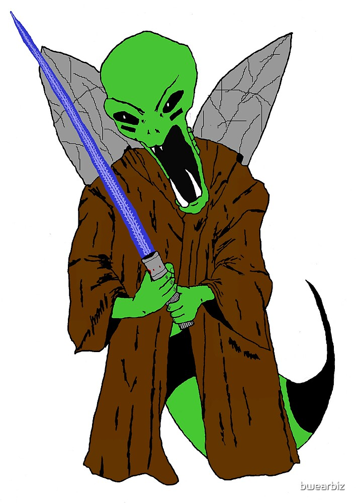 """Alien """"B"""" cloaked and ready for war! by bwearbiz"""