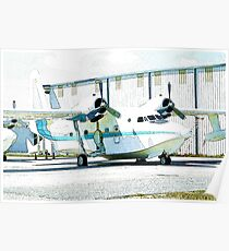 Seaplane in drydock Poster