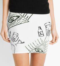 skulls eyes and booze Mini Skirt