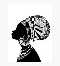 African Zen-Queen Photographic Print