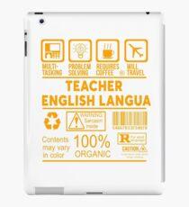 TEACHER OF ENGLISH LANGUAGE - NICE DESIGN 2017 iPad Case/Skin