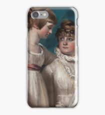 John Raphael Smith () Double portrait of Elizabeth and Mary Hannah Smith, the artist's daughters iPhone Case/Skin