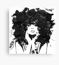 Erykah Badu (Monochrome) Canvas Print